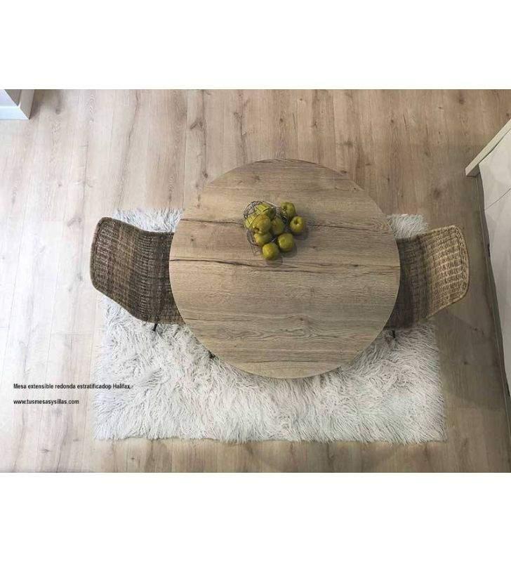 Mesa redonda Bety de estilo vintage