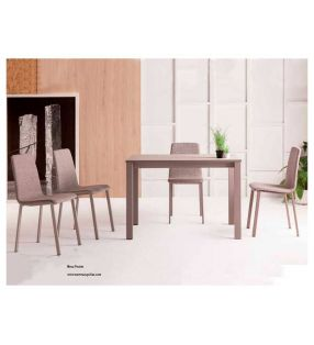 Silla con patas metálicas y asiento madera o tapizado Oxfort