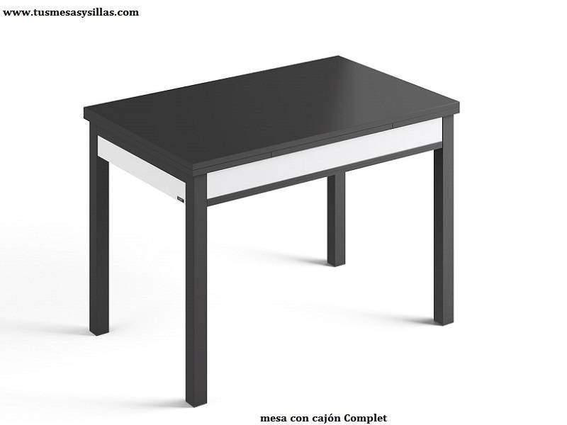 Mesa extensible con cajón de cocina Complet, multiples medidas