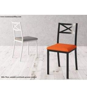 Silla cocina Thor con asiento tapizado grueso confort
