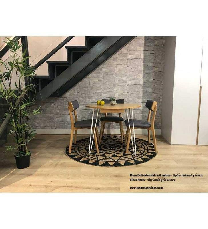 Mesas de cocina redondas y extensibles