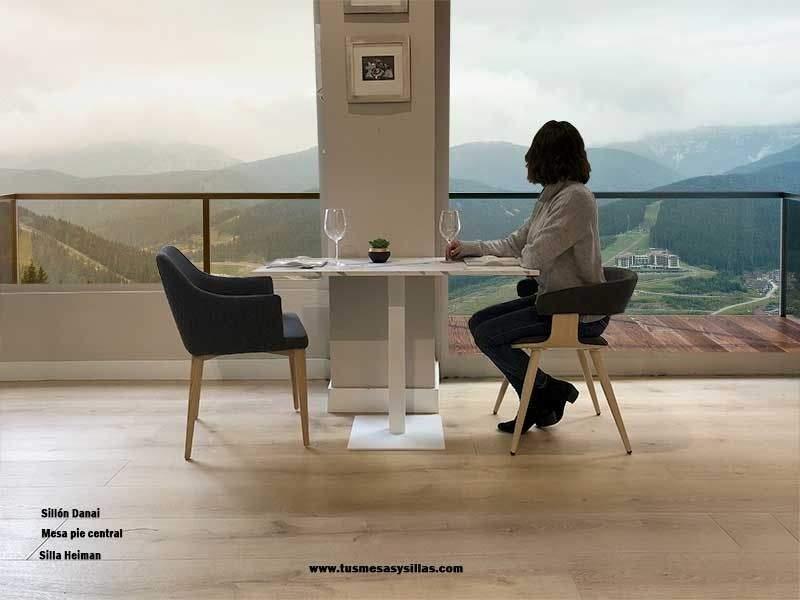 table avec pied central pour salle à manger cuisine et hospitalité de haute stabilité