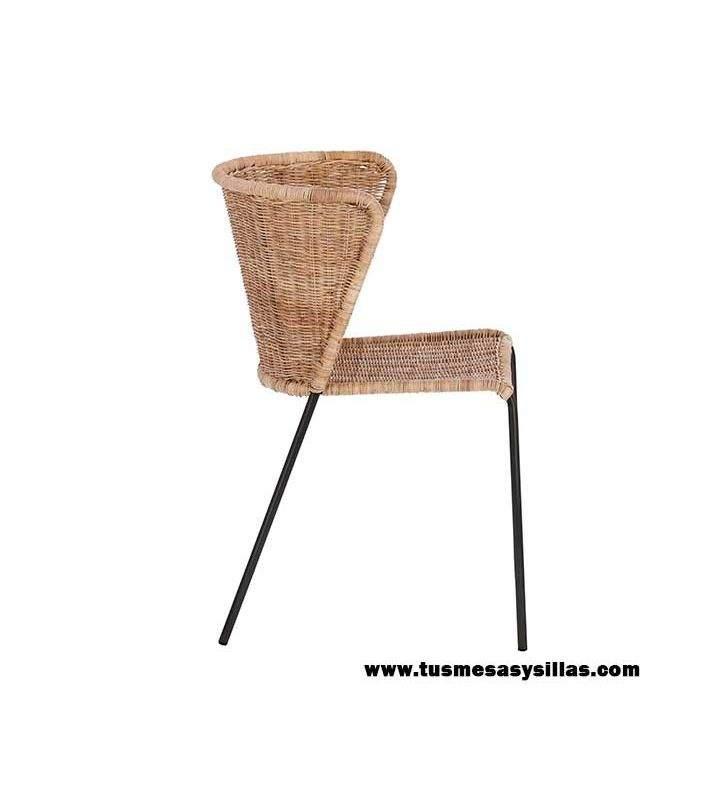 silla-fantine-asiento-ratán-metal