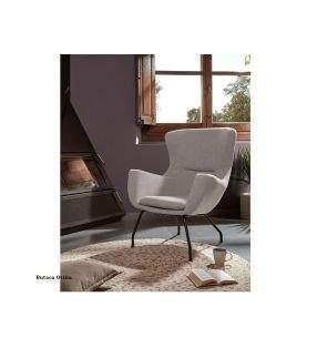 Fauteuil-confortable-pas cher-gris