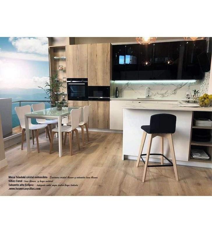 mesa Punto pequeña 90x80cm extensible para cocina de Ondarreta