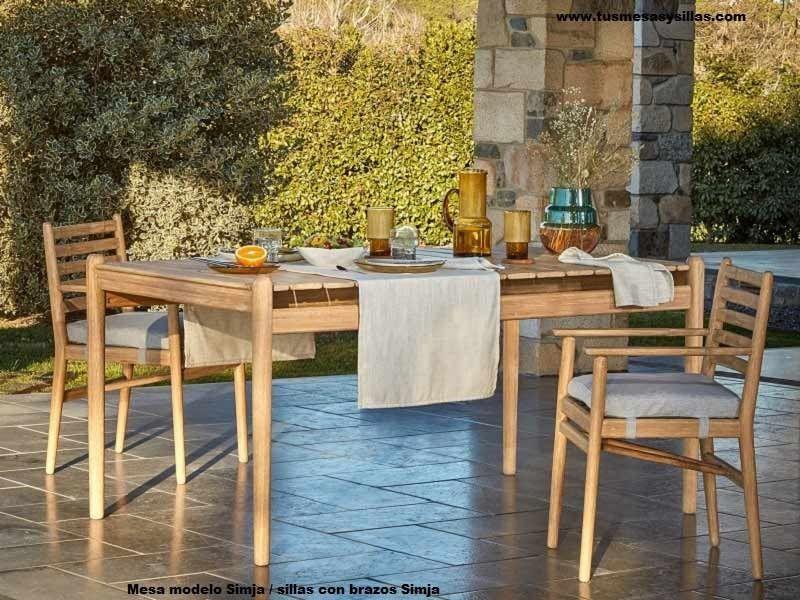 Table De Terrasse Ou Veranda En Bois De Style Colonial Simja
