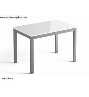 table-plan de travail-blanc-brillant