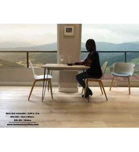table-beti-pieds-blancs-plan de travail-halifax