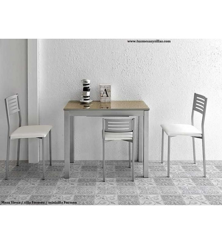 mesa cocina pequeña 90x45 extensible Viena