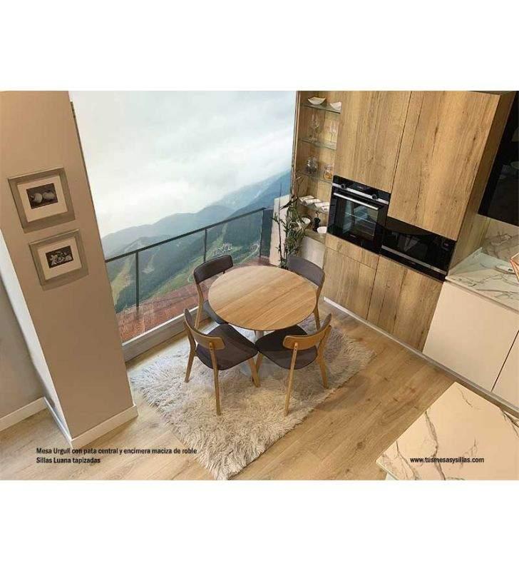 mesas-redondas-cocinas-pequeñas-madera