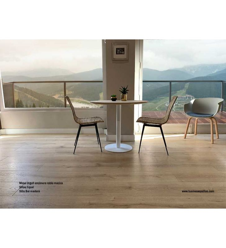 mesa-cocina-madera-redonda-pequeña