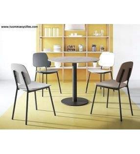 table-ronde-plateau-ceramique