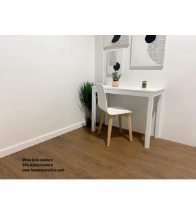 Mesas estrechas extensibles blancas