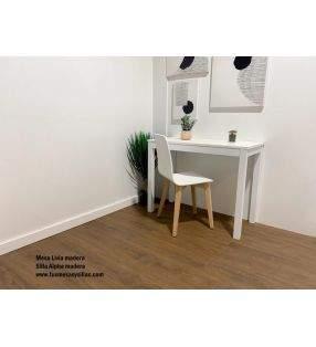 Mesas extensibles estrechas blancas