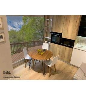 Mesa redonda madera maciza