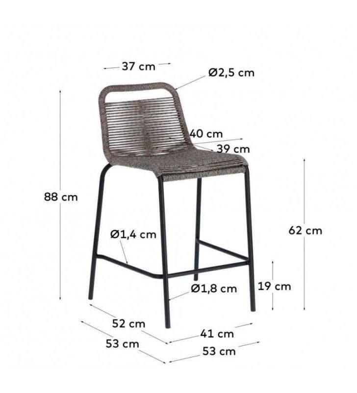 medias taburetes altura-asiento 64 cm