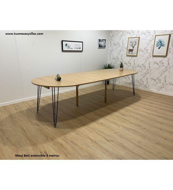 mesa extensible tres metros