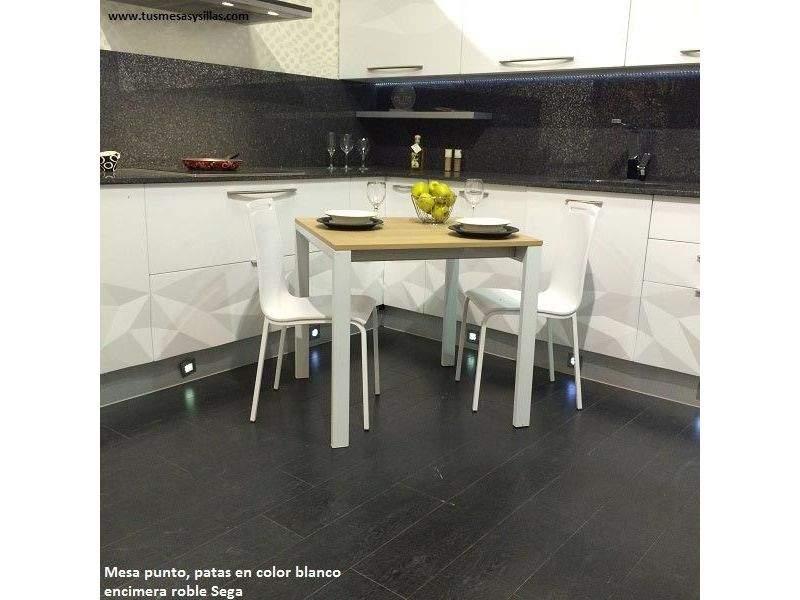 Silla de cocina Milan con entrega inmediata y asiento de color blanco