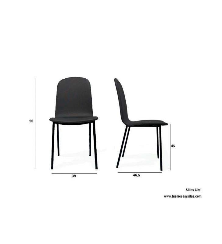 silla-tapizada-metal-cómoda-comedor