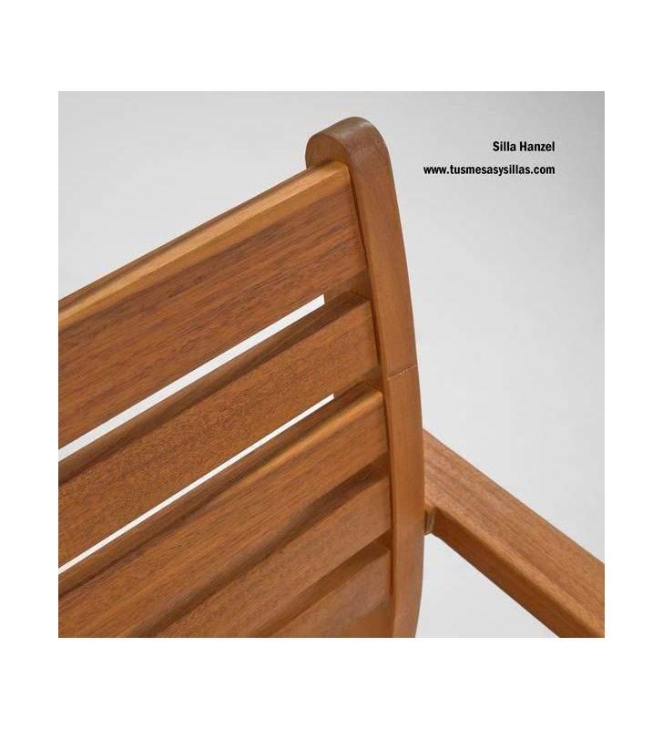 Silla exterior Hanzel madera maciza sostenible