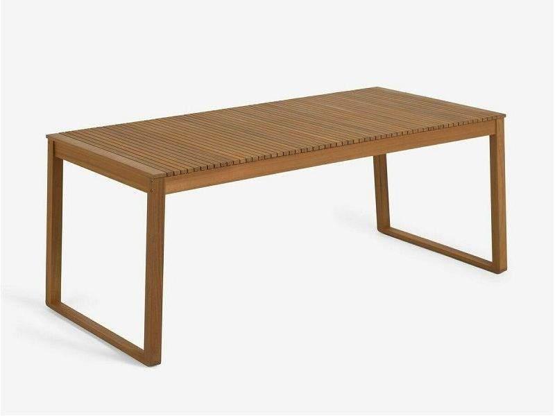 Mesa de terraza en madera Emili para 8 personas en stock de 190x90 cm