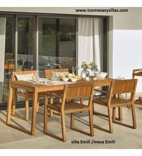 Table et chaises modèle Emili