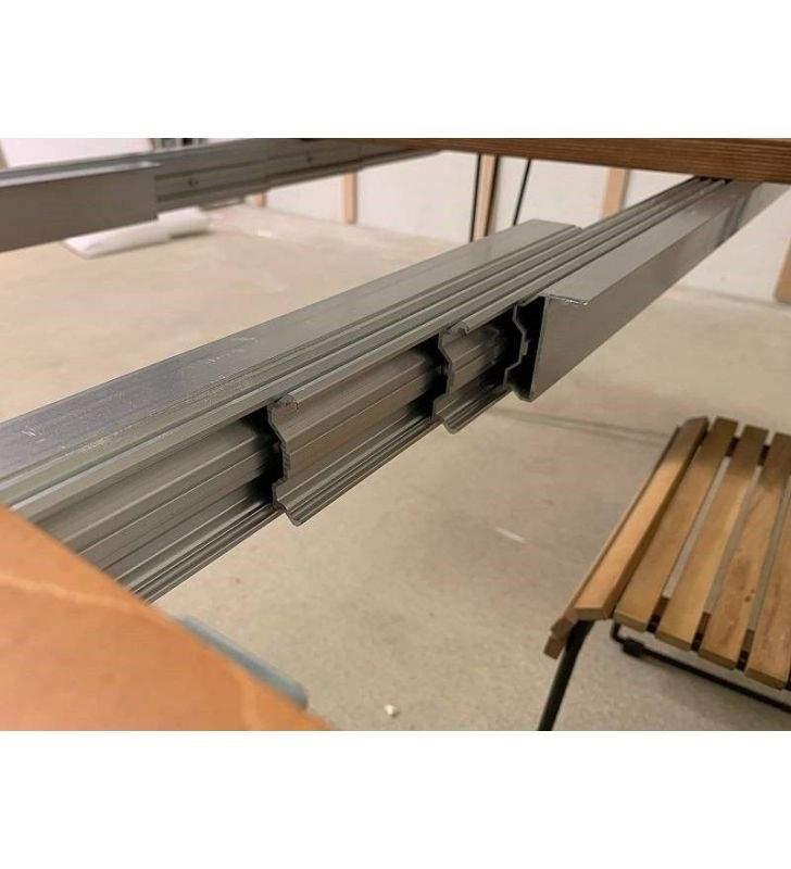 guias-aluminio-herrajes en acero