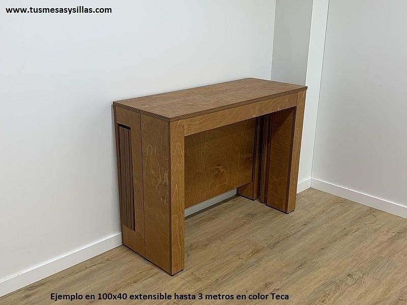 Table console extensible Aixi pour terrasse, mesures multiples et jusqu'à 3 mètres