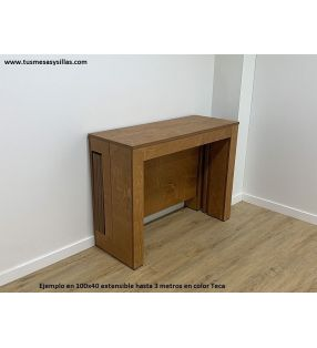 mesa consola 100x40 cm