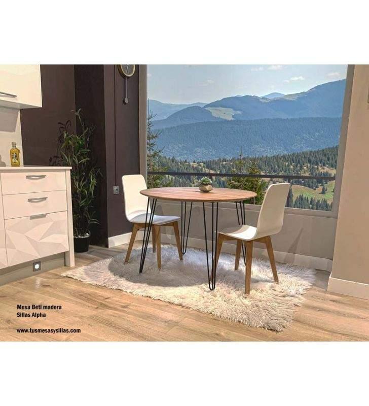 mesa-cocina-hierro-negro-y-madera