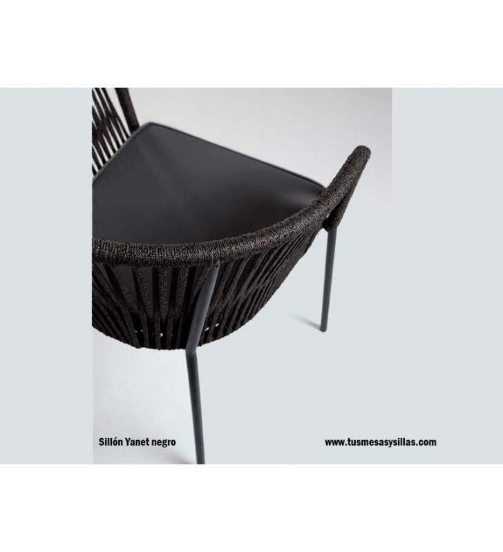 sillón-terraza-negro-cuerda