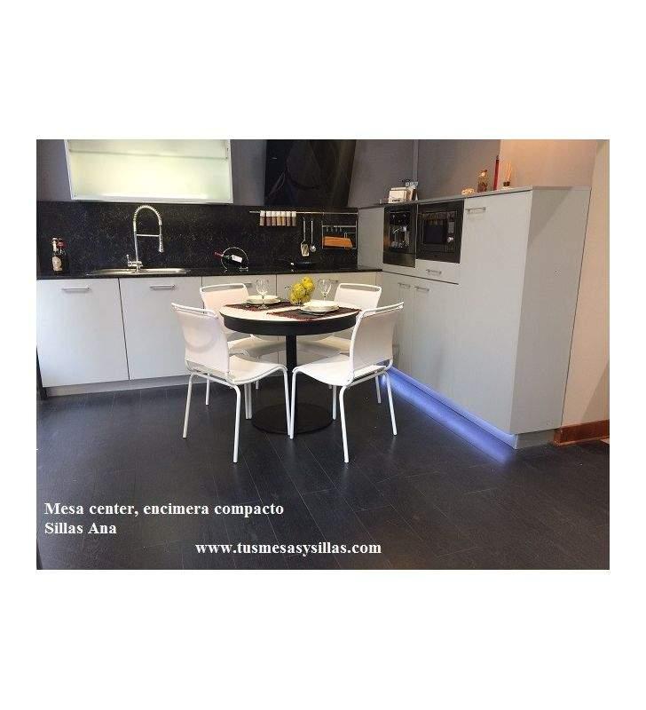 mesa redonda extensible center vimens cocina