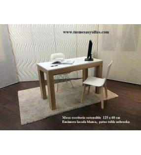 mesa escritorio extensible hasta 3 metros