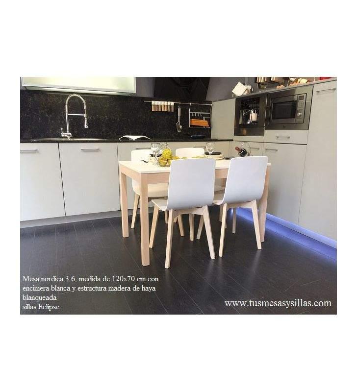 mesa de cocina  y comedor Nordica 3.6 Fija