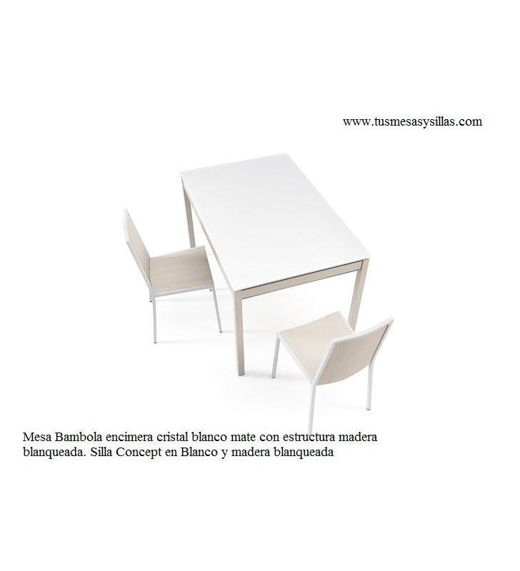 Mesa cocina extensible madera Bambola Vetas cancio