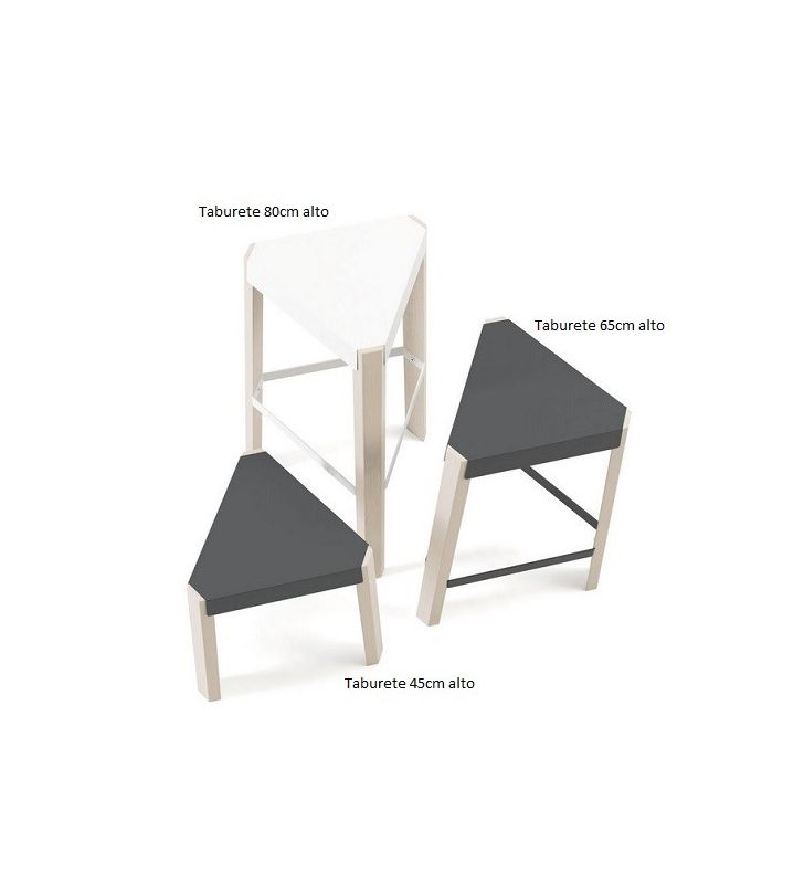 Taburete alto Podio de cancio para cocina, estilo nórdico