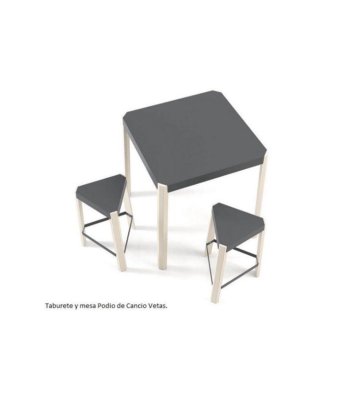 Mesa Podio fija en tres alturas de Cancio Vetas, estilo nórdico