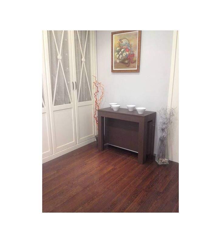 mesa consola extensible comedor extensible hasta 3 m  en madera y laca