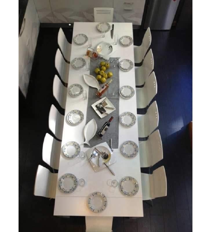 mesa consola extensible pata giratoria comedor extensible hasta 3 m  en madera y laca