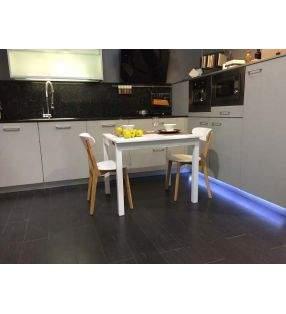 Silla Luana en roble y blanco para cocina y comedor, nordica