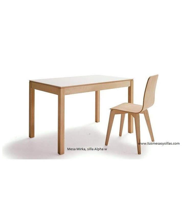 Mesa Mirka madera encimera Dekton vimens