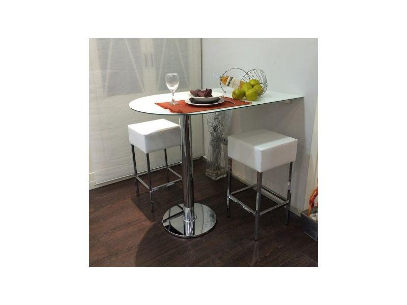 Barra mostrador con canto redondeado para cocina o comedor cristal