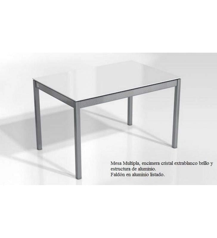 mesa cocina fija a medida multipla encimera porcelanico