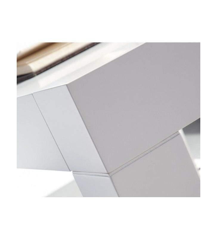 mesa comedor moderna Tania 276 con encimera cristal