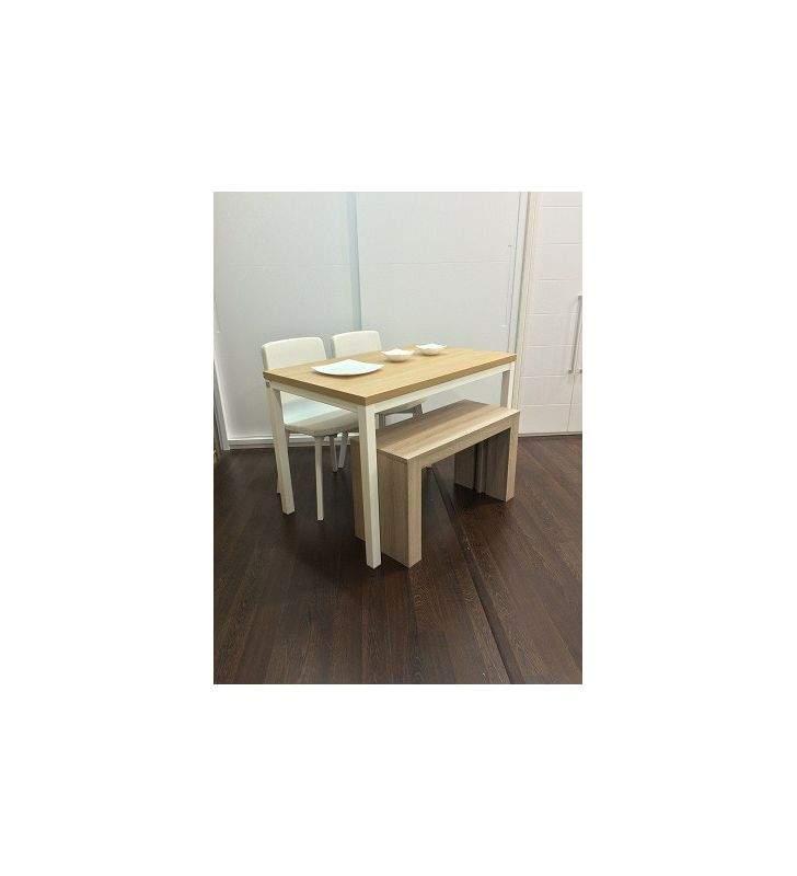 Mesa de comedor de centro extensible