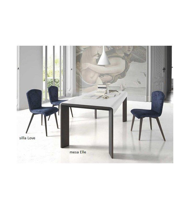 Mesa extensible Elle moderna en cristal