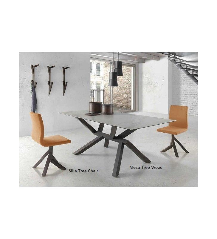 Silla moderna de madera Tree Chair de diseño