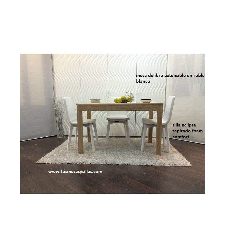 mesa libro extensible de comedor