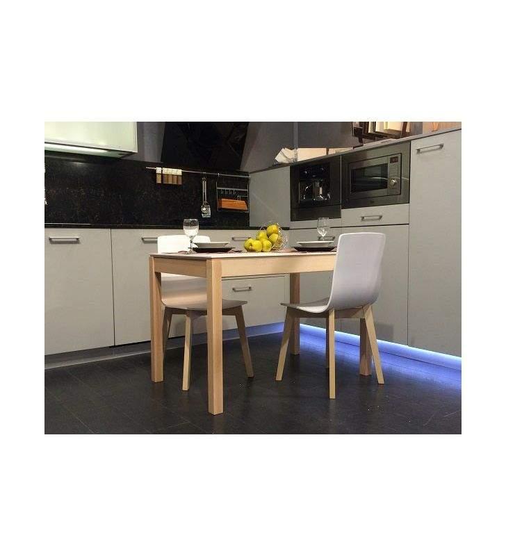 Mesa extensible Mirka cocina y comedor estilo nordico encimera ceramica