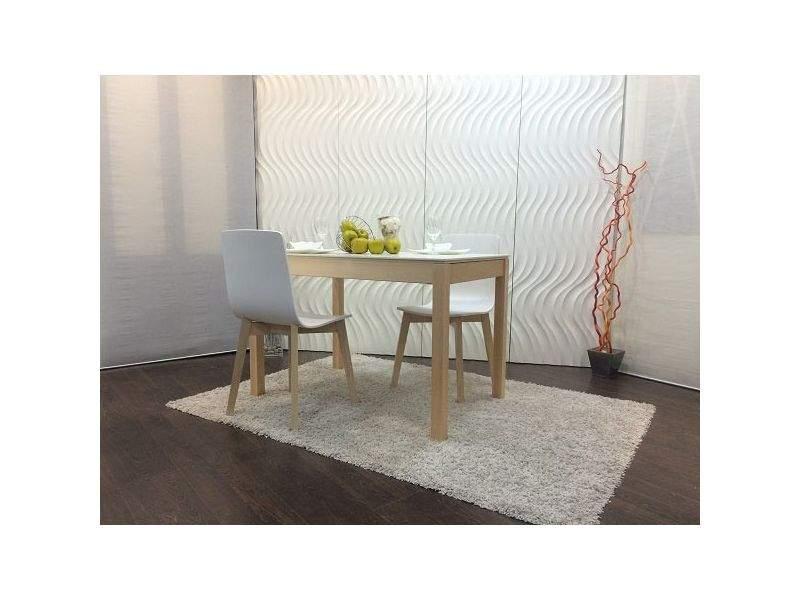 Mesa cocina comedor Mirka en Silestone extensible en madera